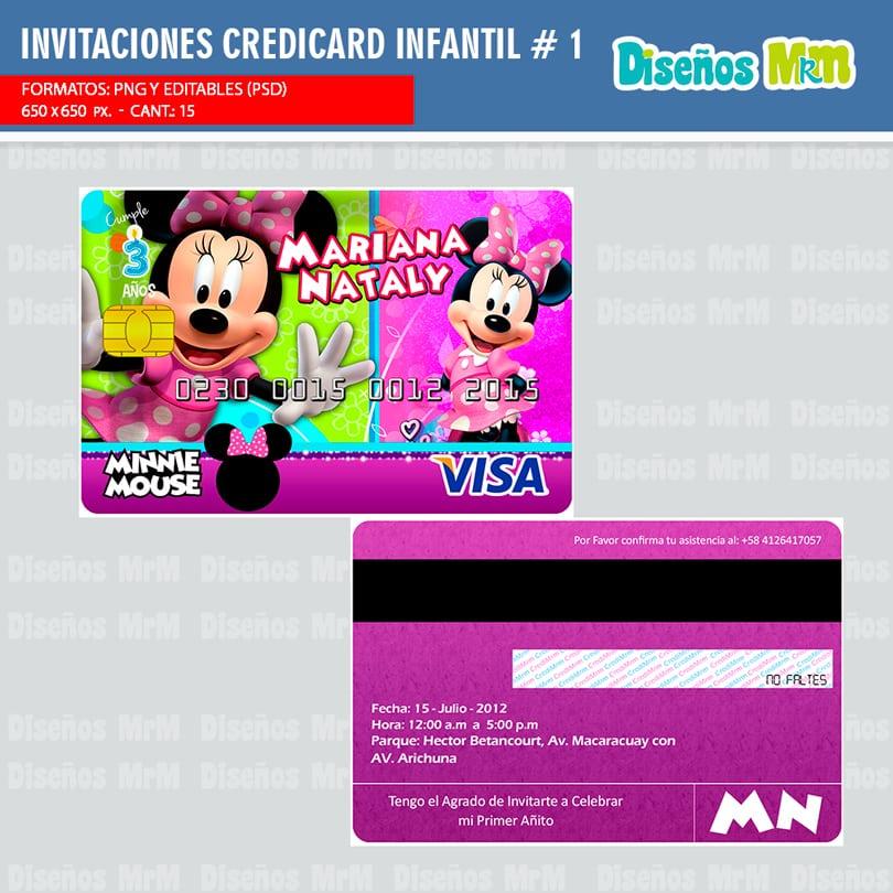Diseños Para Tarjetas Invitacion Modelo Credicard