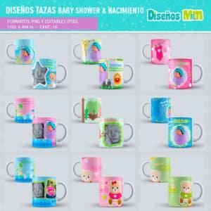 Diseño-templates-plantillas-shower-nacimiento-baby-born-niño-boy-niña-girl-birth-tazas-mug-vaso_8