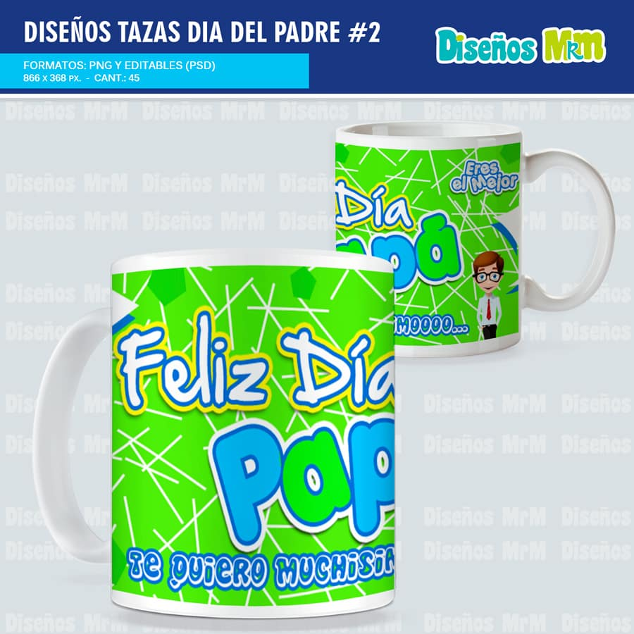 Plantillas Dia Del Padre Para Tazas Pack 2