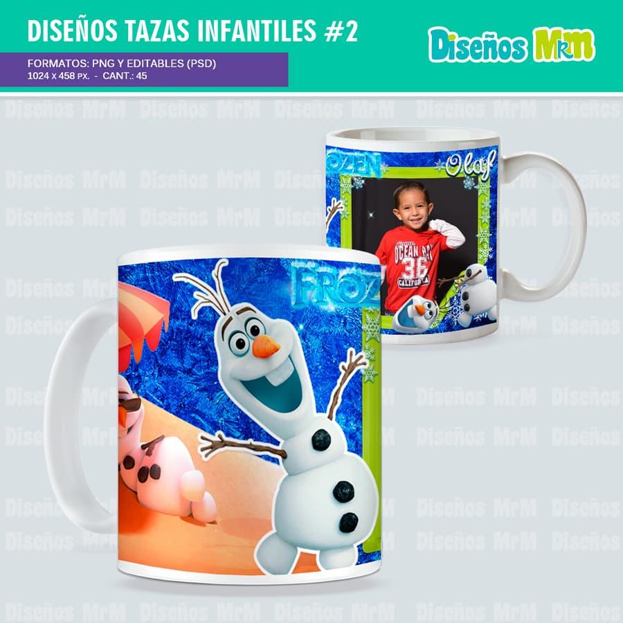 Diseños en Photoshop para SUBLIMAR MUGS INFANTILES