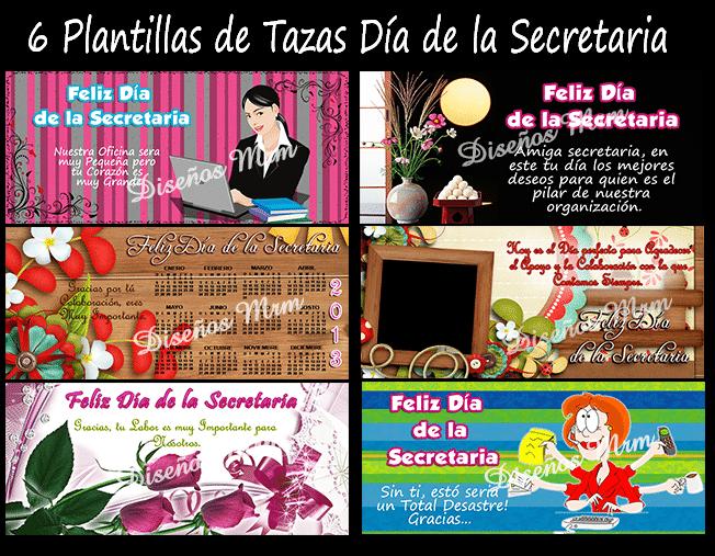 DISEÑOS PARA TAZAS MUGS MOTIVO SECRETARIA
