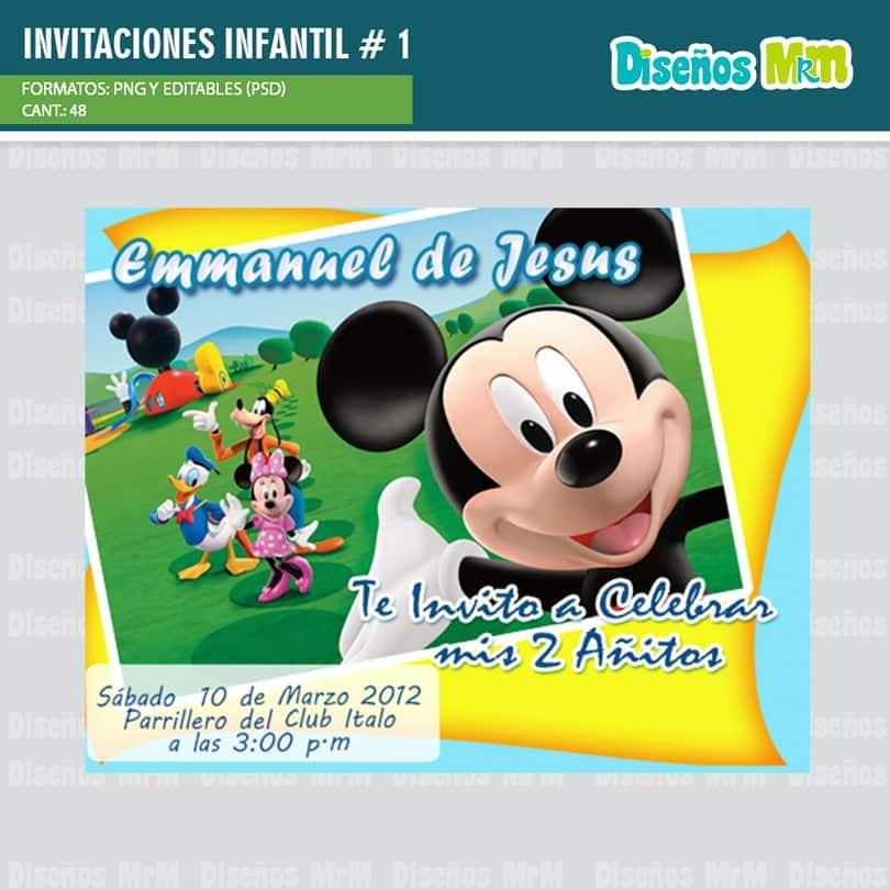 Diseños Para Tarjetas De Invitacion Infantil