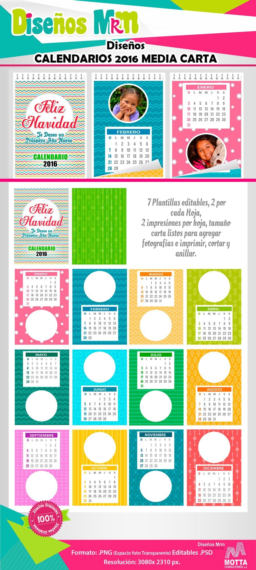 calendario 2016 para personalizar