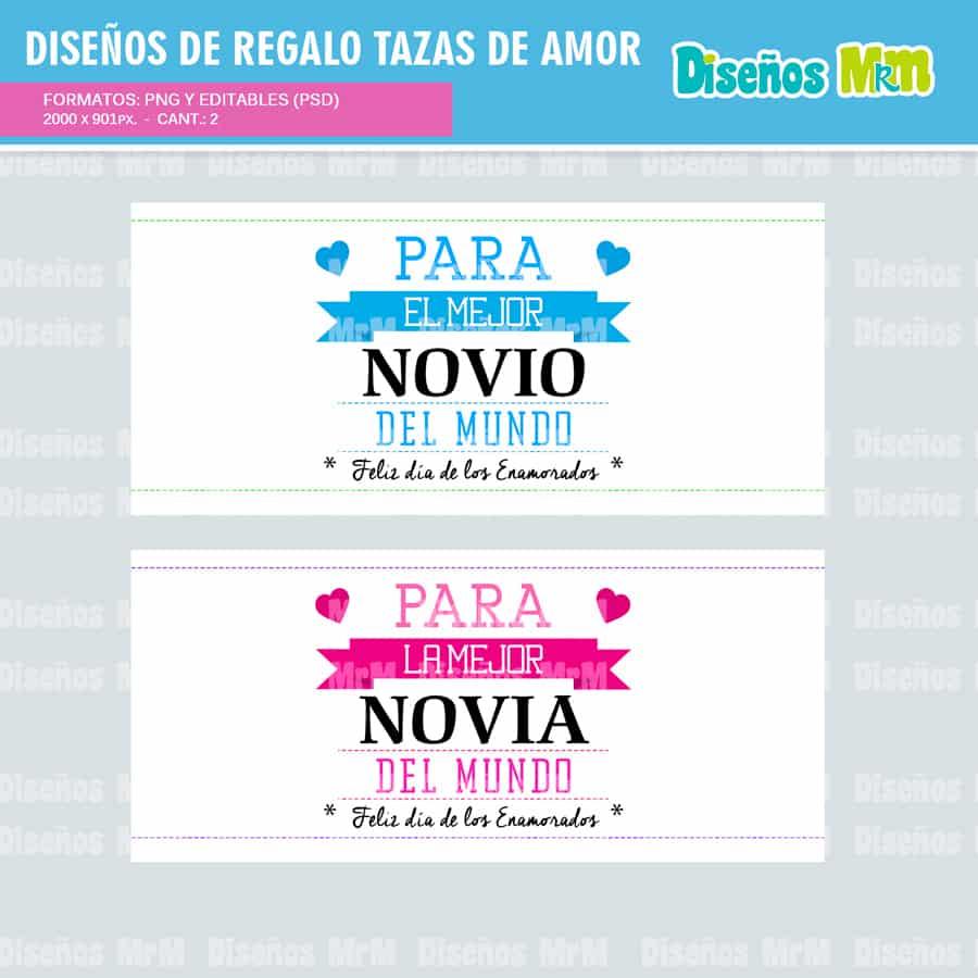 Diseños para Personalizar tazones enamorados Gratis