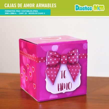 CAJAS ARMABLES DE AMOR
