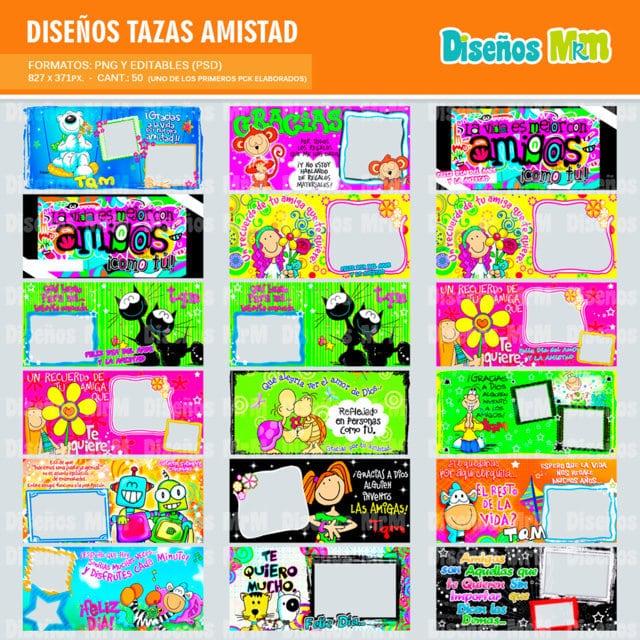 DISEÑO PLANTILLAS PARA TAZAS AMISTAD #1