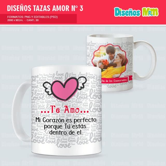 DISEÑOS PARA MUG AMOR LOVE PACK N 3