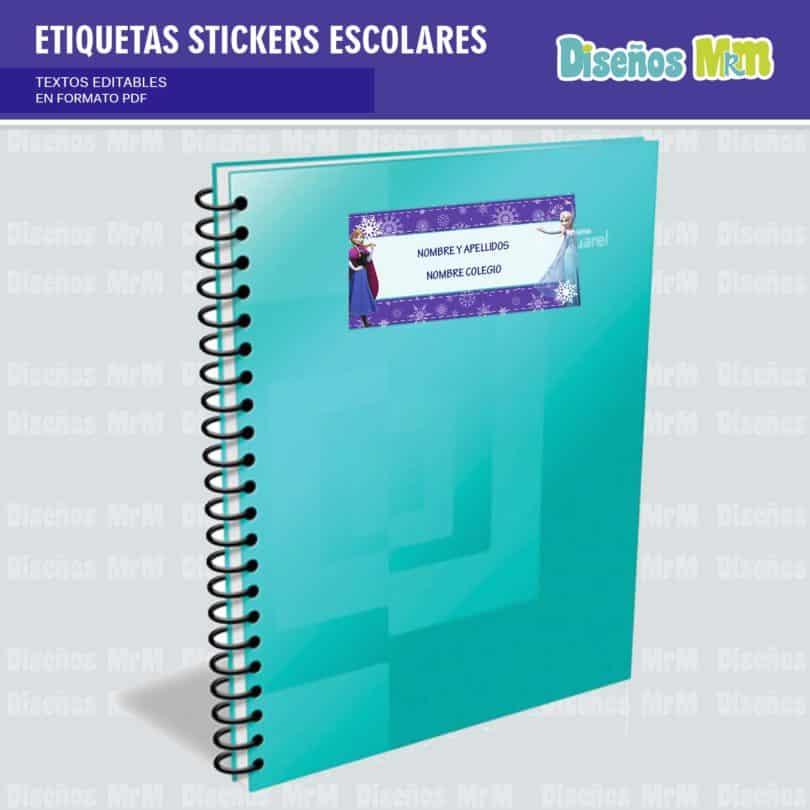 etiquetas-sticker-frozen-ana-elsa-olaf-escolar-estudiante-escuela-colegio-personalizar-2