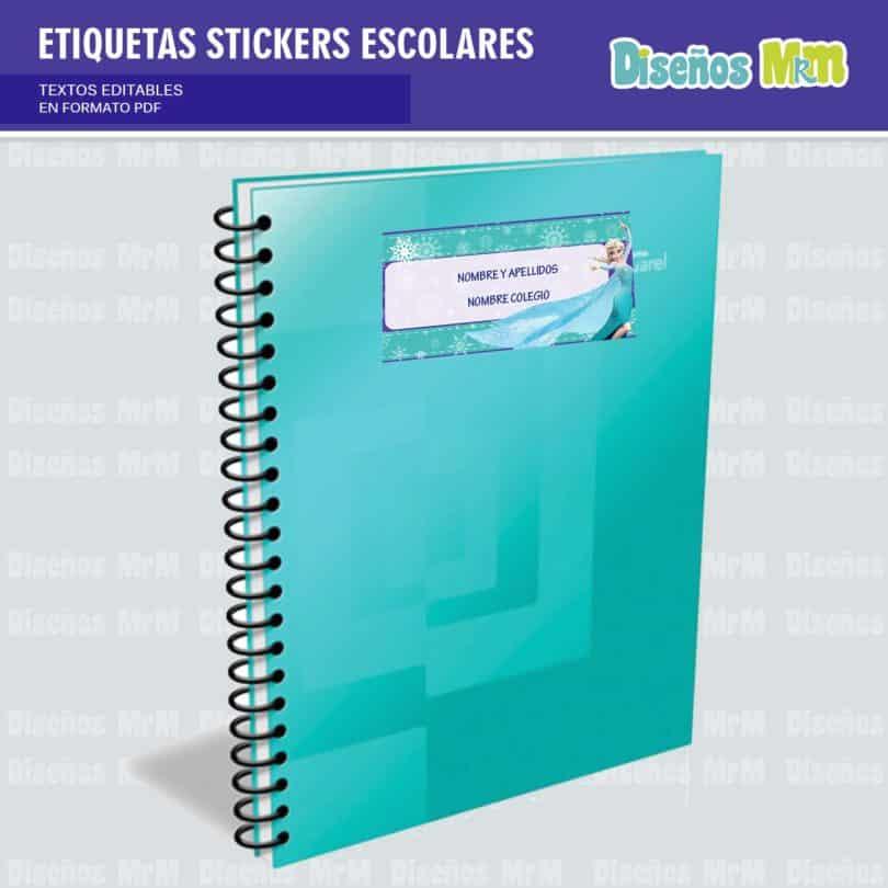 etiquetas-sticker-frozen-ana-elsa-olaf-escolar-estudiante-escuela-colegio-personalizar-3