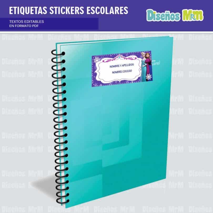 etiquetas-sticker-frozen-ana-elsa-olaf-escolar-estudiante-escuela-colegio-personalizar-4
