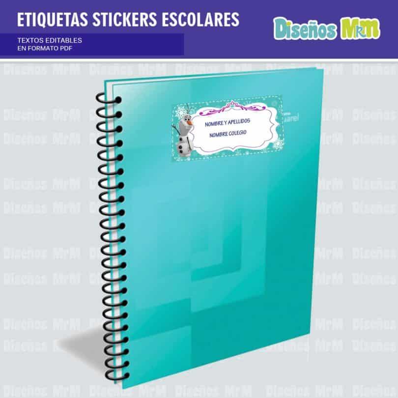 etiquetas-sticker-frozen-ana-elsa-olaf-escolar-estudiante-escuela-colegio-personalizar-5