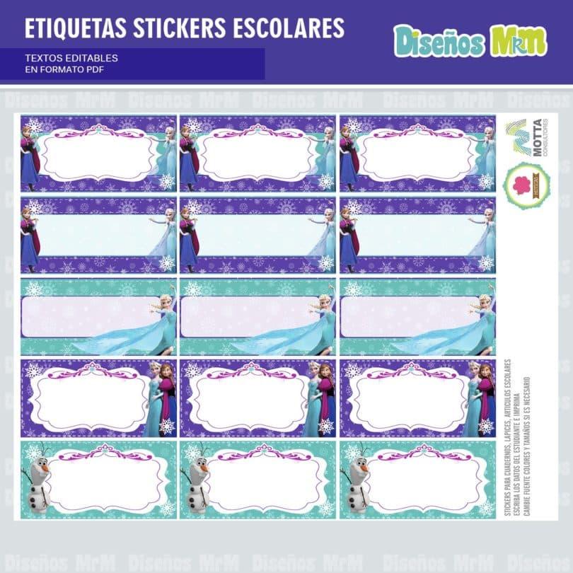 etiquetas-sticker-frozen-ana-elsa-olaf-escolar-estudiante-escuela-colegio-personalizar-6