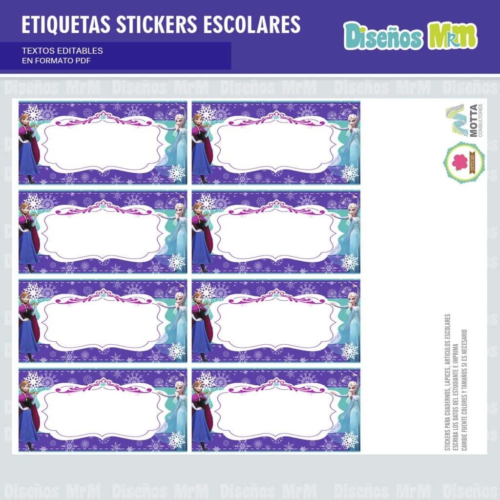 etiquetas-sticker-frozen-ana-elsa-olaf-escolar-estudiante-escuela-colegio-personalizar-7