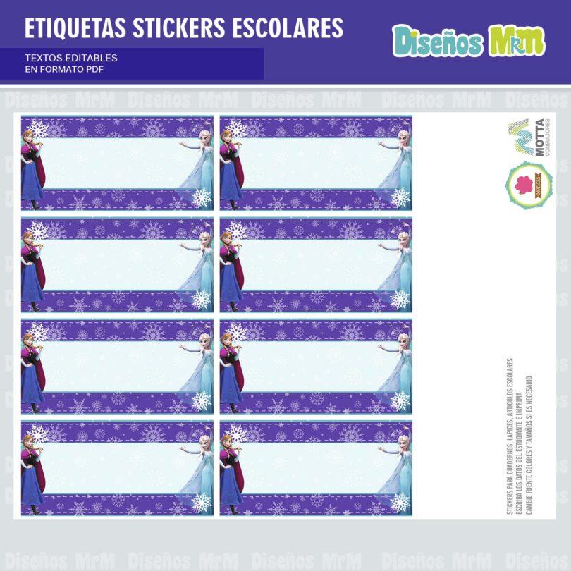 etiquetas-sticker-frozen-ana-elsa-olaf-escolar-estudiante-escuela-colegio-personalizar-8