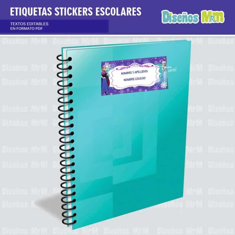 etiquetas-sticker-frozen-ana-elsa-olaf-escolar-estudiante-escuela-colegio-personalizar