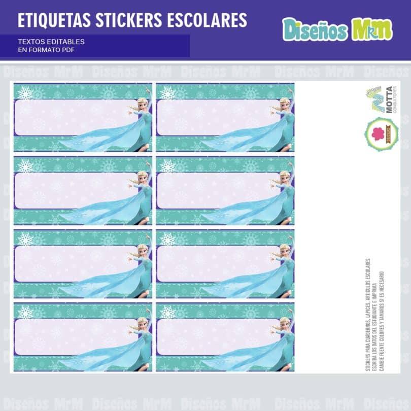 etiquetas-sticker-frozen-ana-elsa-olaf-escolar-estudiante-escuela-colegio-personalizar-9