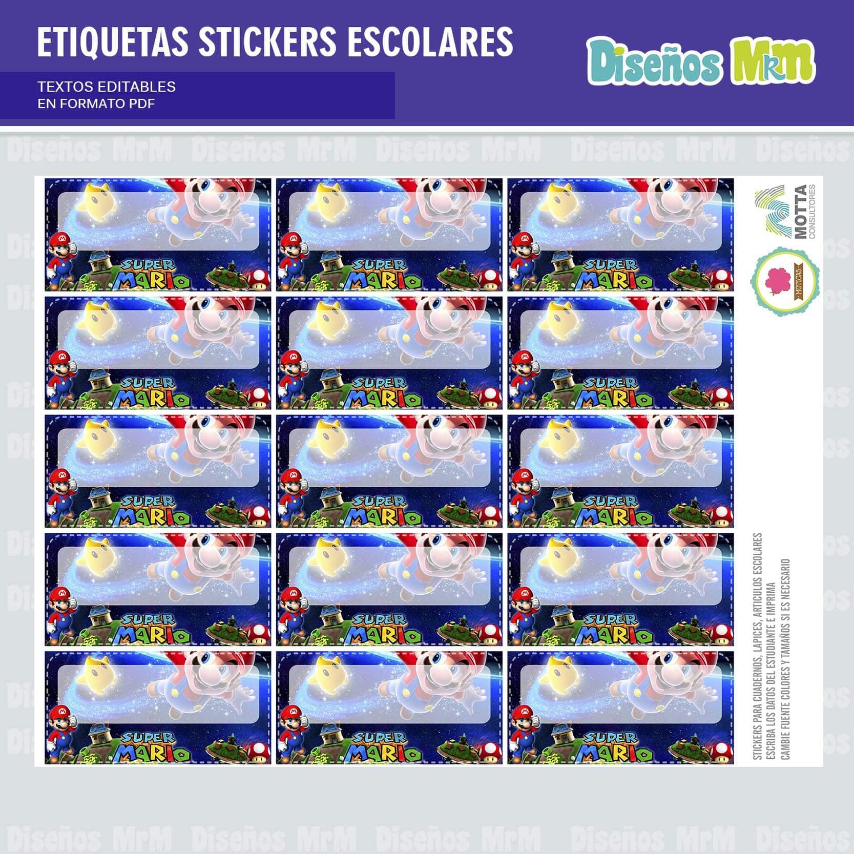 etiquetas-sticker-mario-bros-escolar-estudiante-escuela-colegio-personalizar-2