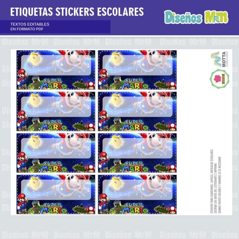 etiquetas-sticker-mario-bros-escolar-estudiante-escuela-colegio-personalizar-3