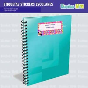 etiquetas-sticker-minie-mouse-escolar-estudiante-escuela-colegio-personalizar-2