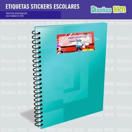 etiquetas-sticker-minie-mouse-escolar-estudiante-escuela-colegio-personalizar