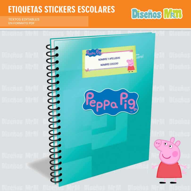 etiquetas-sticker-peppa-ping-escolar-estudiante-escuela-colegio-personalizar-1