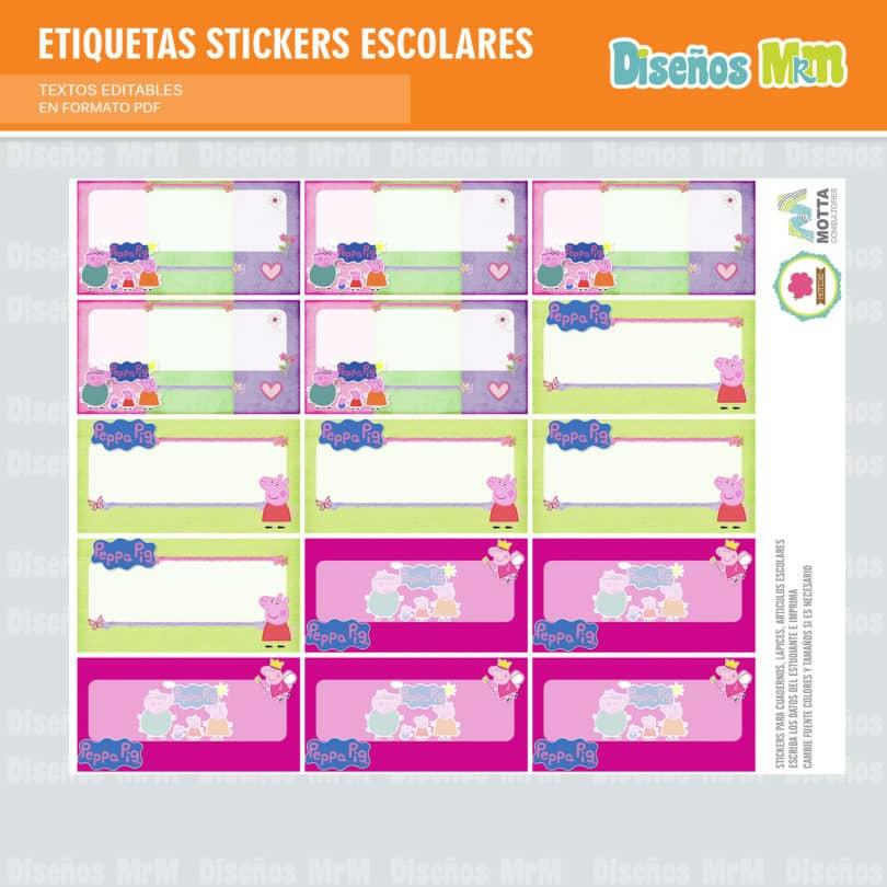 etiquetas-sticker-peppa-ping-escolar-estudiante-escuela-colegio-personalizar-4