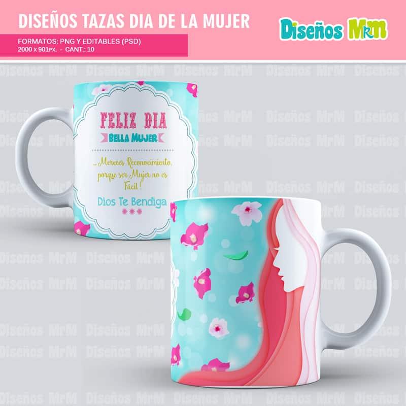 Diseño-plantilla-dibujo-taza-mugs-vaso-personalizado-sublimacion-mujer-dia-woman-chica-festejar-8-marzo_1