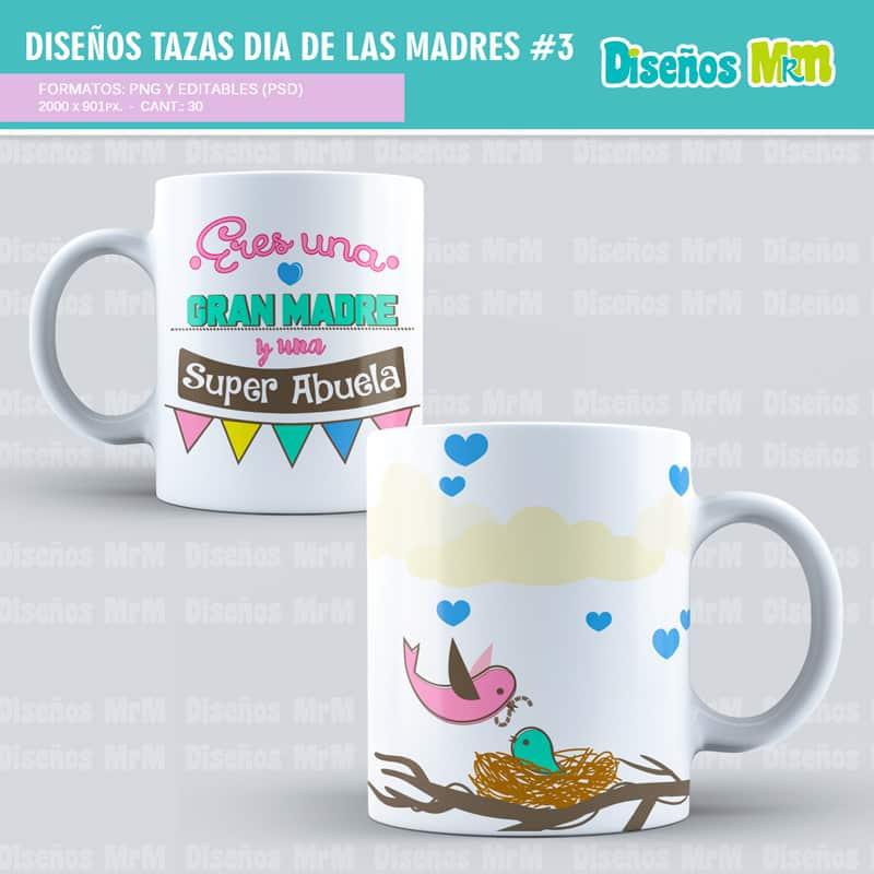 Marcos Dia de la Madre   Diseños para Sublimar Mugs