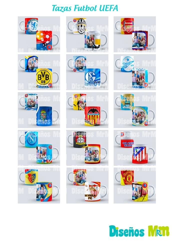 FUTBOL UEFA: DISEÑOS PARA TAZONES