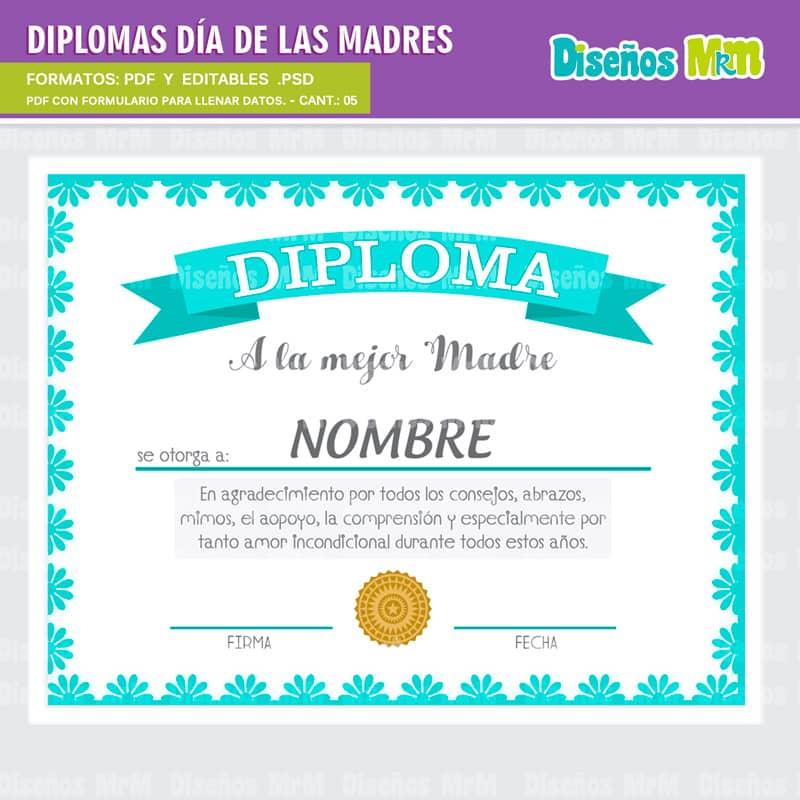 formato de diplomas para descargar
