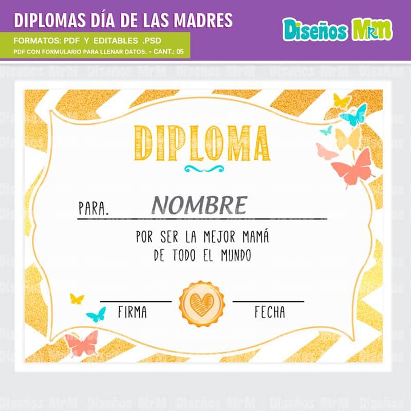 Diplomas Dia de la Madre Listos a imprimir