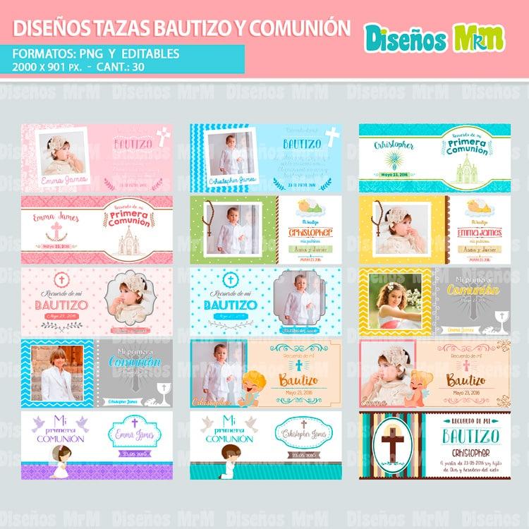 DISEÑOS RELIGIOSOS DE BAUTIZOS COMUNIÓN PARA SUBLIMAR MUGS