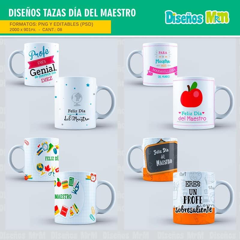 plantillas dia del maestro para sublimar mugs