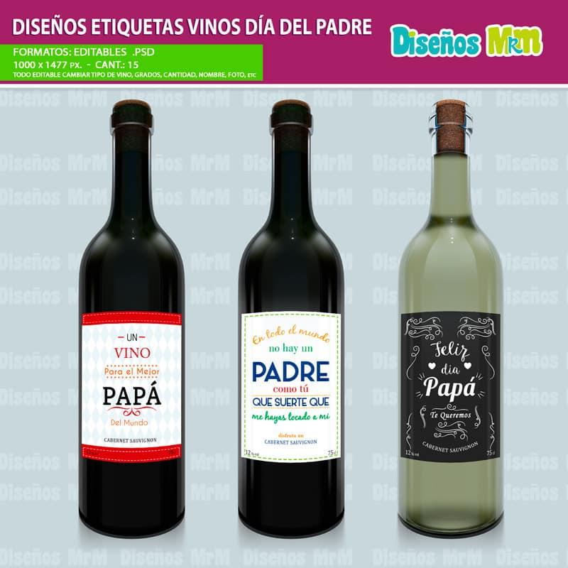 Etiqueta-diseño-label-plantilla-vino-personalizado-dia-del-padre-papa-father-dad-botella-chile_4