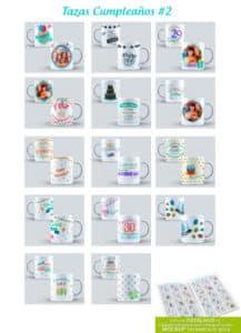 diseños feliz cumpleaños para sublimar tazones