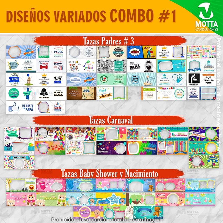 COMBO DE PLANTILLAS PARA SUBLIMACION N 1