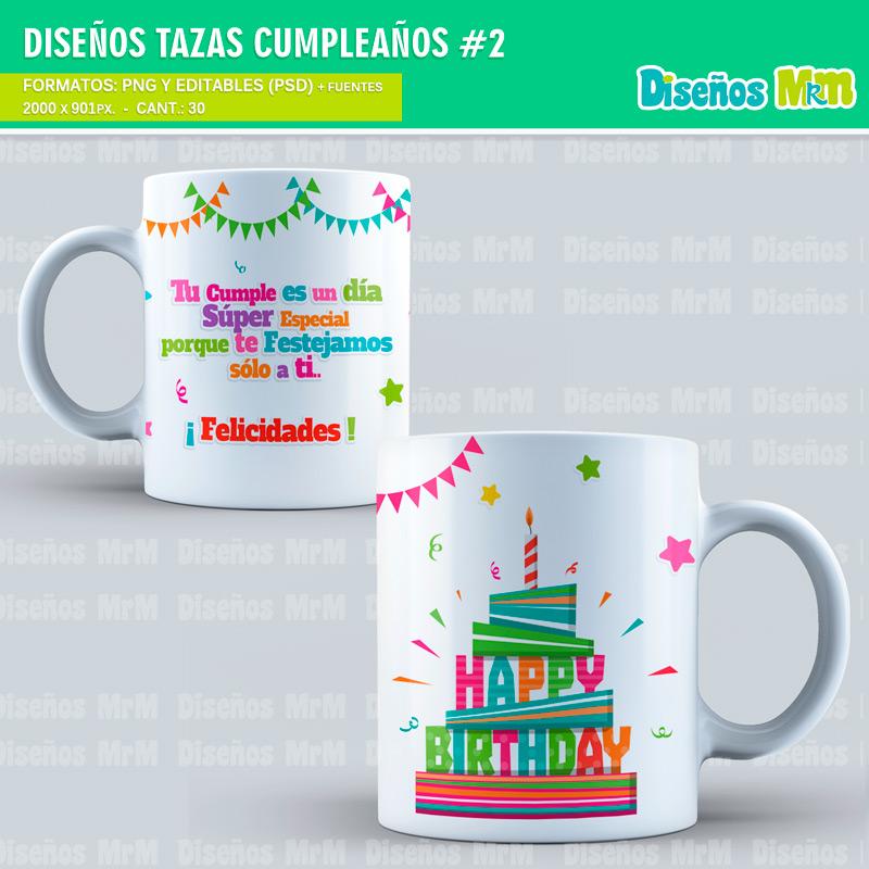 Dise os feliz cumplea os para sublimar tazones y mugs - Vasos para cumpleanos infantiles ...