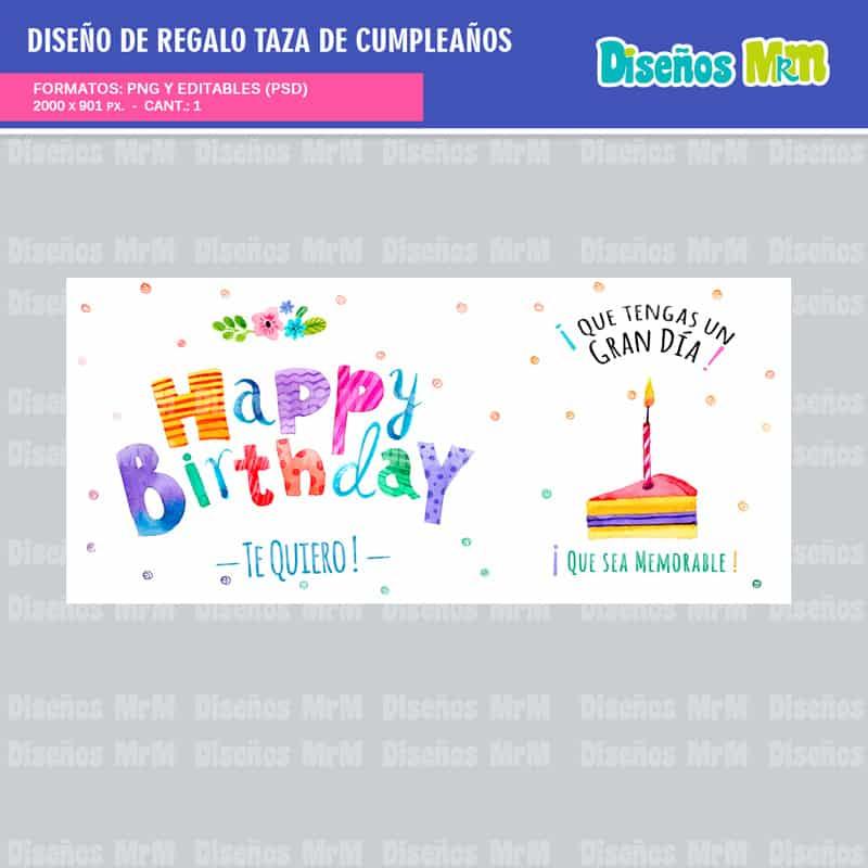 Diseño Feliz Cumpleaños Para Sublimar Gratis