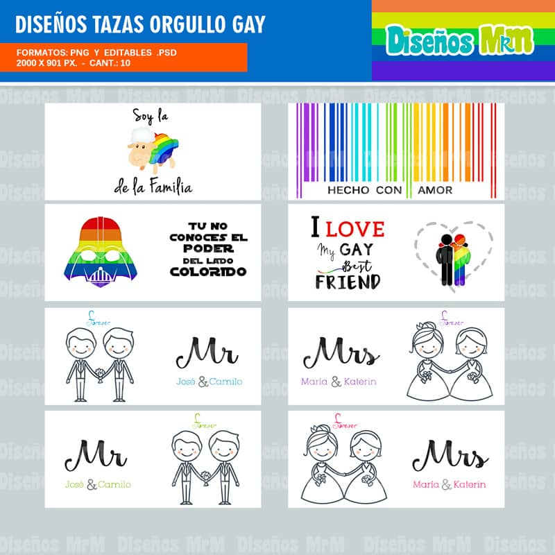 DISEÑOS ORGULLO GAY
