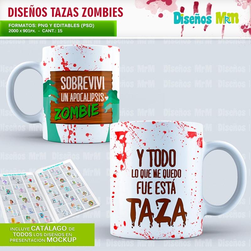 dise os zombies para sublimar tazas motta