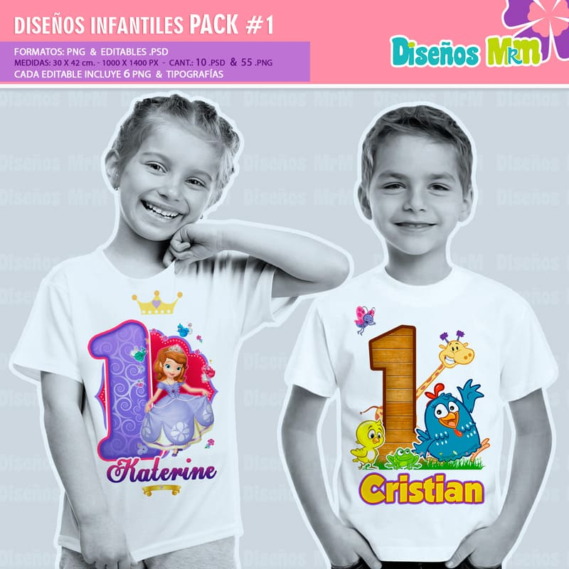 Diseños-Infantiles-dibujos-franelas-polera-camisa-personalizadas-niños-mickey-minnie-capitan-princesas-bella-paw-patrol-ballet-peppa-gallinita-pintadita-sofia_1