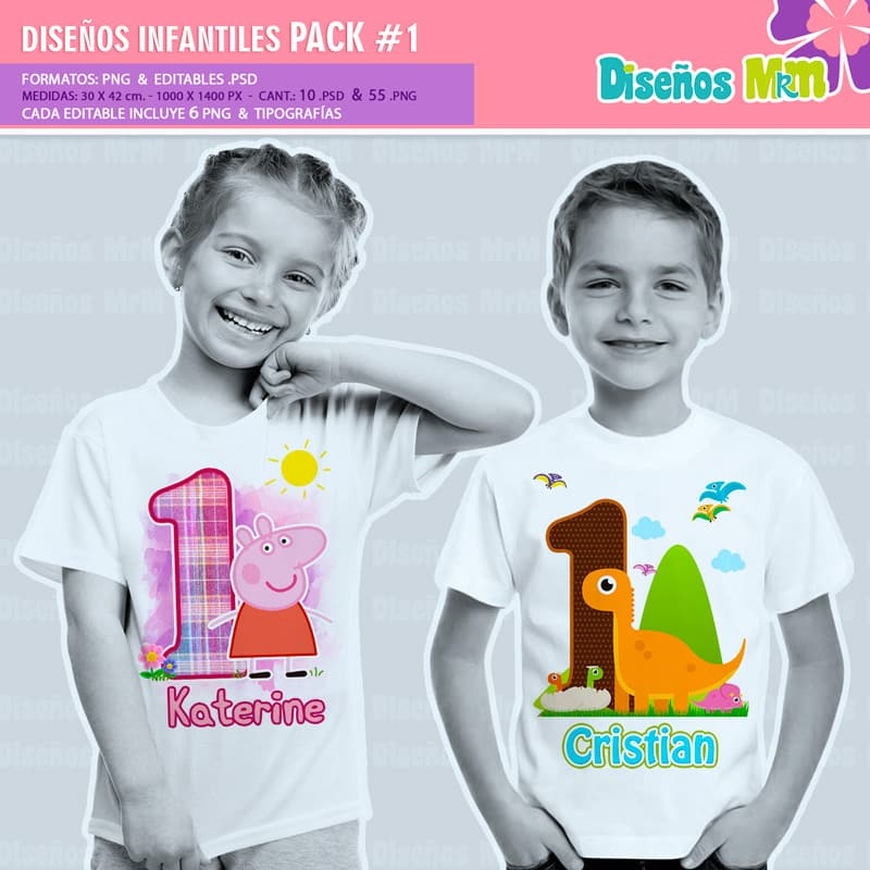 Diseños-Infantiles-dibujos-franelas-polera-camisa-personalizadas-niños-mickey-minnie-capitan-princesas-bella-paw-patrol-ballet-peppa-gallinita-pintadita-sofia_2