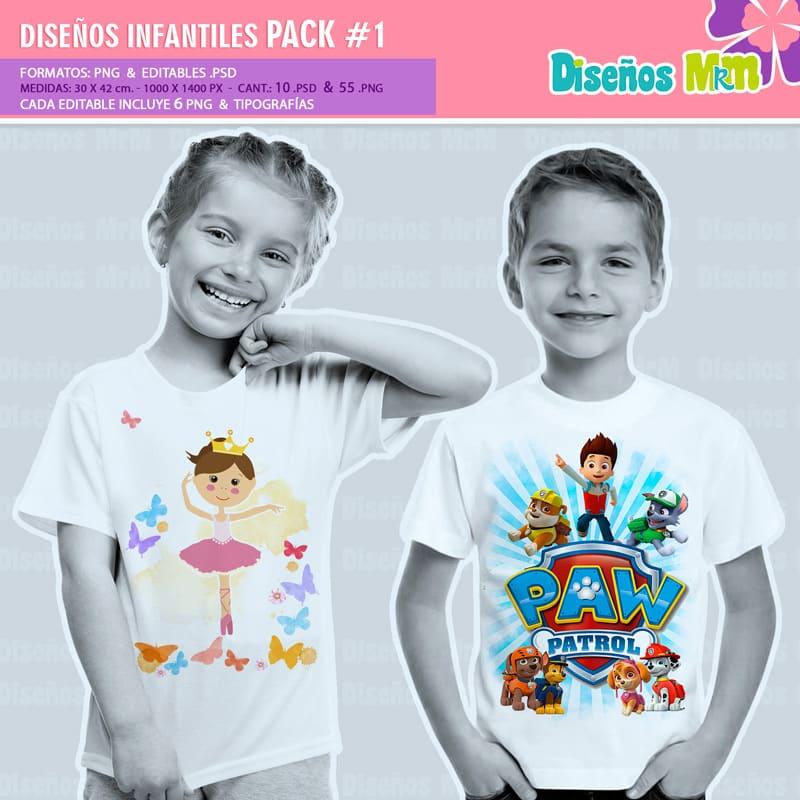 Diseños-Infantiles-dibujos-franelas-polera-camisa-personalizadas-niños-mickey-minnie-capitan-princesas-bella-paw-patrol-ballet-peppa-gallinita-pintadita-sofia_3