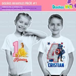 Diseños-Infantiles-dibujos-franelas-polera-camisa-personalizadas-niños-mickey-minnie-capitan-princesas-bella-paw-patrol-ballet-peppa-gallinita-pintadita-sofia_4