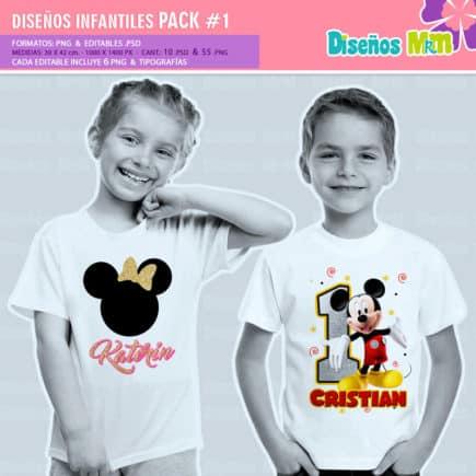 Diseños-Infantiles-dibujos-franelas-polera-camisa-personalizadas-niños-mickey-minnie-capitan-princesas-bella-paw-patrol-ballet-peppa-gallinita-pintadita-sofia_5