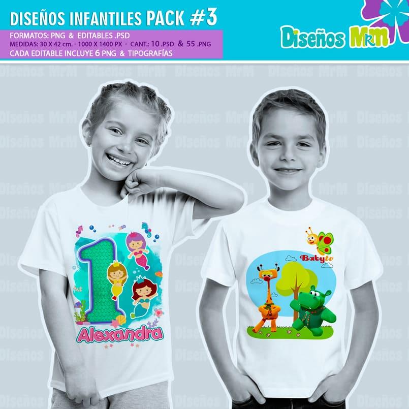 Diseños-Infantiles-dibujos-franelas-polera-camisa-personalizadas-niños-minnie-mickey-blancanieves-george-peppa-laloolypsy-mundo-de-luna-un-gran-dinosaurio-monster-high-sirenas-baby-TV-bebes_1