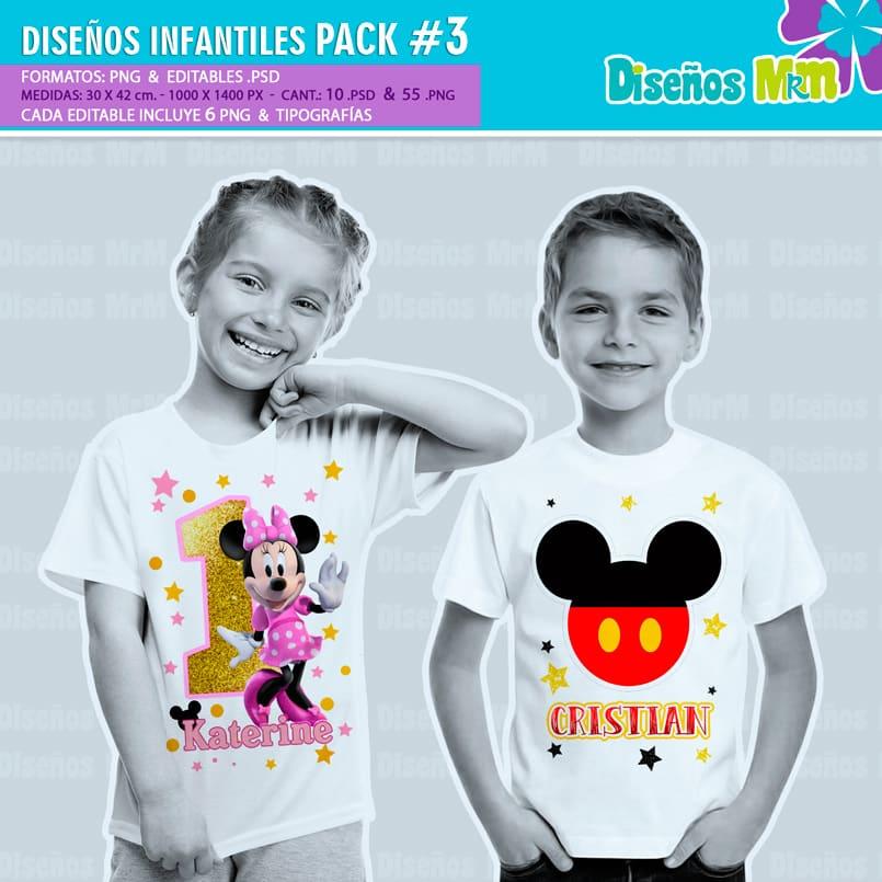 Diseños-Infantiles-dibujos-franelas-polera-camisa-personalizadas-niños-minnie-mickey-blancanieves-george-peppa-laloolypsy-mundo-de-luna-un-gran-dinosaurio-monster-high-sirenas-baby-TV-bebes_2