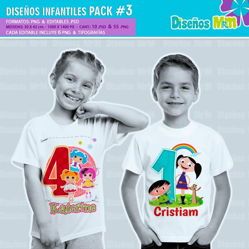 Diseños-Infantiles-dibujos-franelas-polera-camisa-personalizadas-niños-minnie-mickey-blancanieves-george-peppa-laloolypsy-mundo-de-luna-un-gran-dinosaurio-monster-high-sirenas-baby-TV-bebes_4