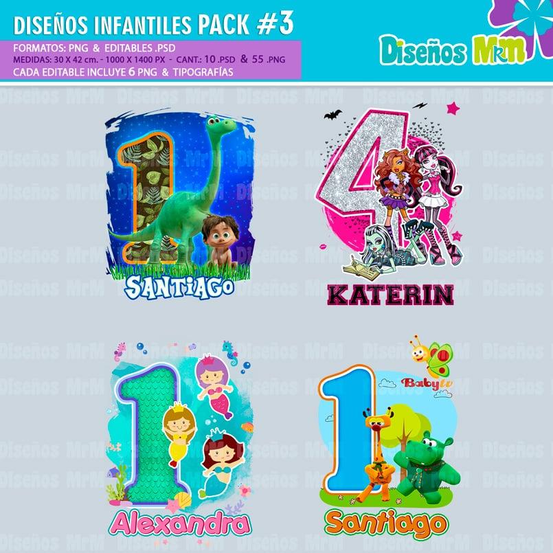 Diseños-Infantiles-dibujos-franelas-polera-camisa-personalizadas-niños-minnie-mickey-blancanieves-george-peppa-laloolypsy-mundo-de-luna-un-gran-dinosaurio-monster-high-sirenas-baby-TV-bebes_8