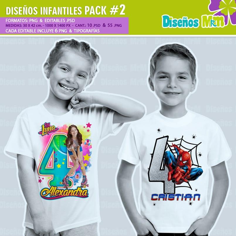Diseños-Infantiles-dibujos-franelas-polera-camisa-personalizadas-niños-soy-luna-hombre-araña-spiderman-cenicienta-frozen-cars-circo-pony-dory-vengadores-hadas-bebes_1_1